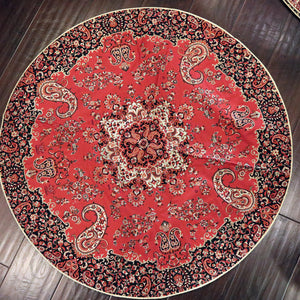 "Termeh - Luxurious circle shape Persian textile 38""diameter - Pattern 4 - gallery-eshgh"
