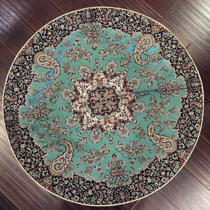 "Termeh - Luxurious circle shape Persian textile 38""diameter - Pattern 5 - gallery-eshgh"