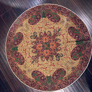 "Termeh - Luxurious circle shape Persian textile 38""diameter - Pattern 6 - gallery-eshgh"