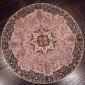 "Termeh - Luxurious circle shape Persian textile 38""diameter - Pattern 8 - gallery-eshgh"