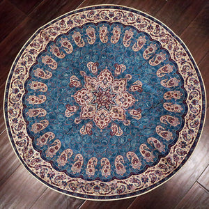 "Termeh - Luxurious circle shape Persian textile 38""diameter - Pattern 9 - gallery-eshgh"