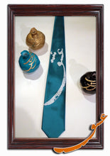 "Load image into Gallery viewer, Tie With Printed Word of ""Love"" in Farsi+Handkerchief-Pattern1 - gallery-eshgh"