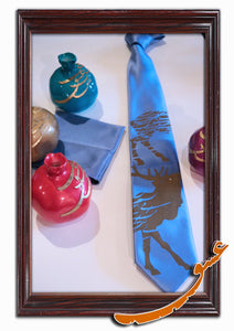 Tie With Gorgeous Printed Patterns + Handkerchief - gallery-eshgh