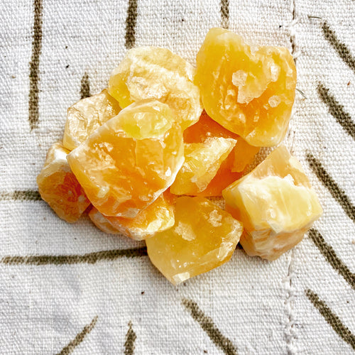 Yellow Calcite Sets for Crystal Grids and Circles