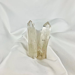 Clear Quartz Healer Wands (Set of 2)