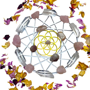 The Heart Collection: Crystal grid and set for Healing the Heart