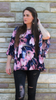 Ruffle Sleeve Floral Blouse - Lotus Ave. Boutique