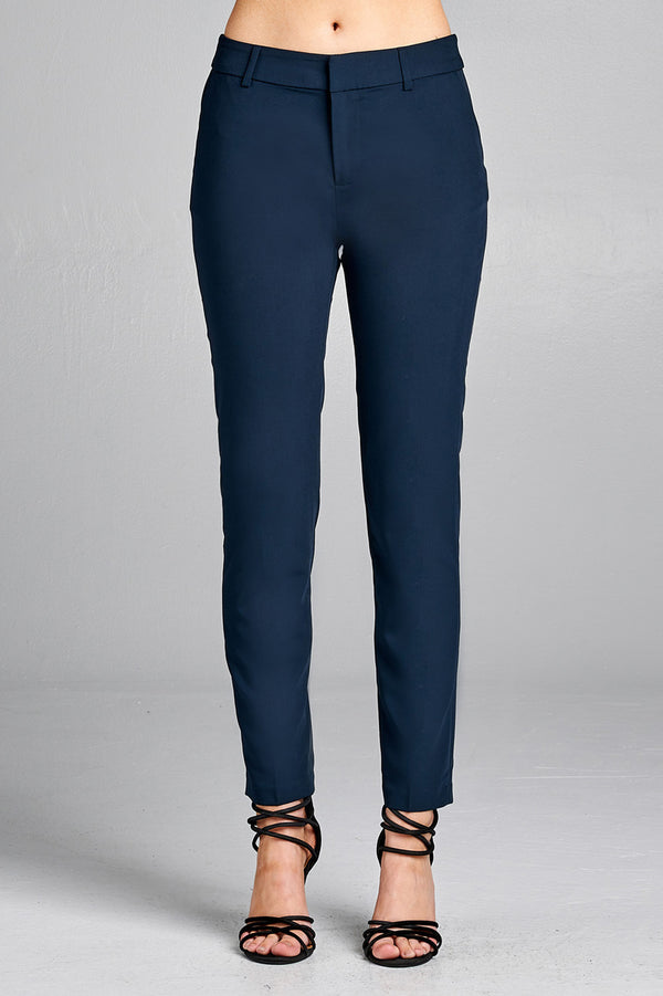 Navy Dress Pants - Lotus Ave. Boutique