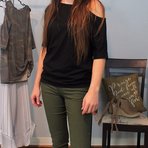 Olive Skinny Pants - Lotus Ave. Boutique