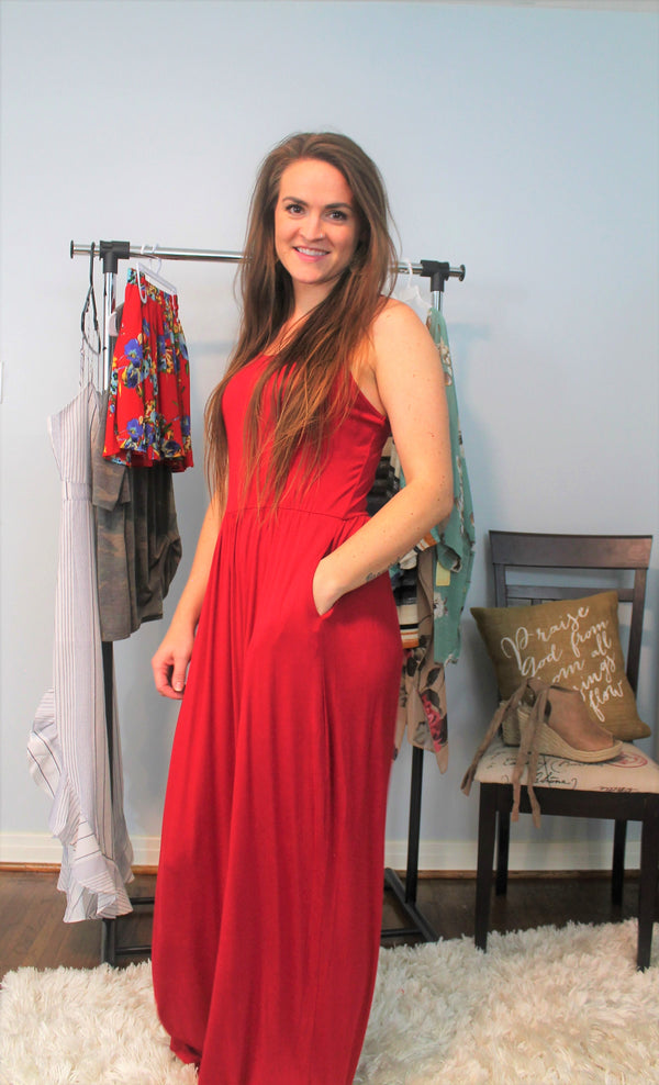 Raserback Maxi Dress - Lotus Ave. Boutique