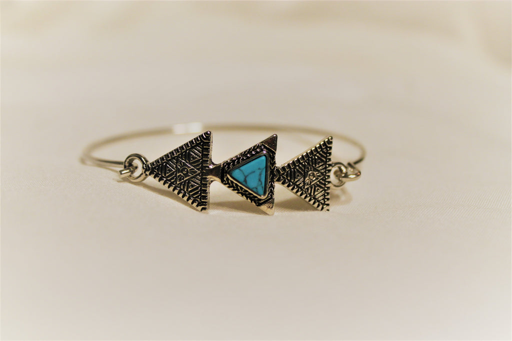 TriangleTurquoise Bracelet - Lotus Ave. Boutique