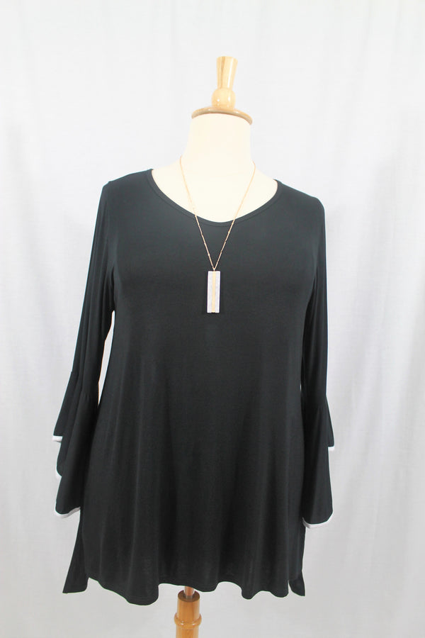 Bell Sleeved Top - Curvy - Lotus Ave. Boutique