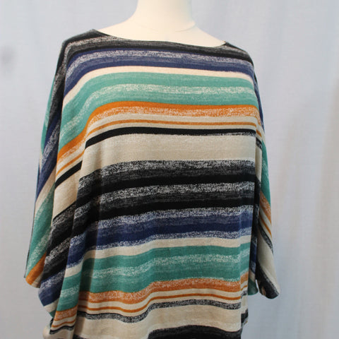 Striped Dolman Sleeve Top - Curvy - Lotus Ave. Boutique