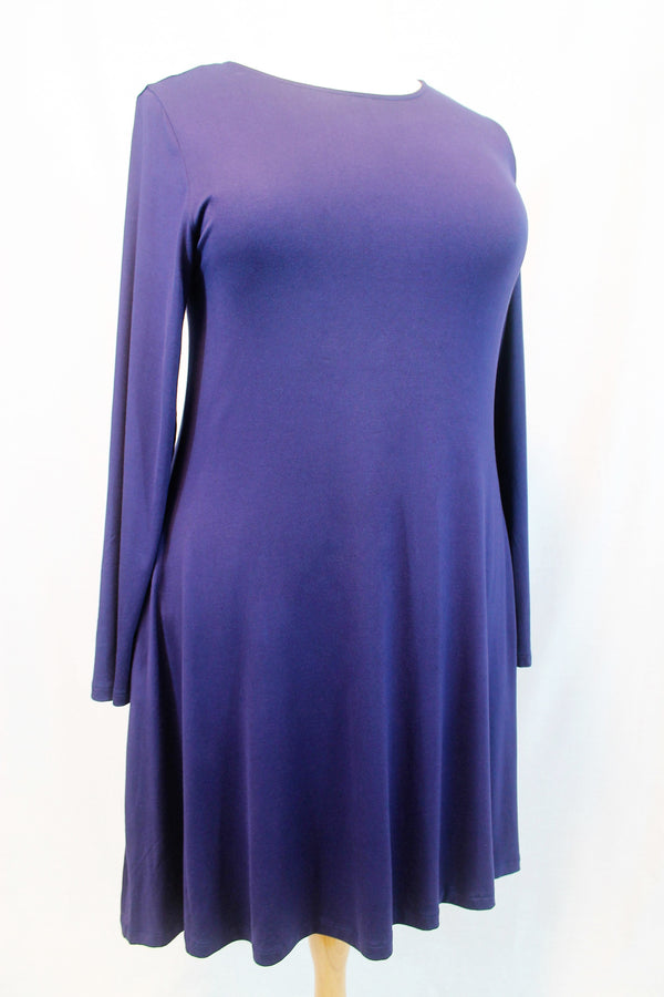 Navy Blue Dress - Curvy - Lotus Ave. Boutique