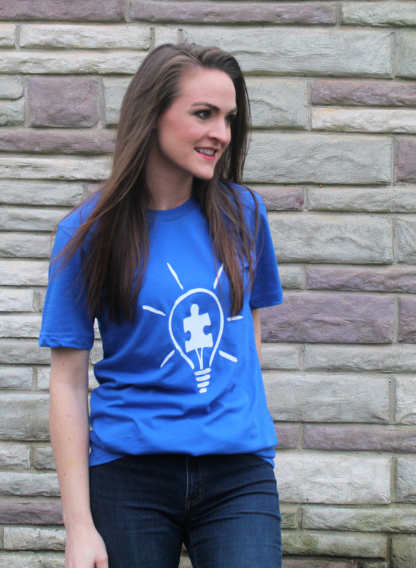 Light It Up Blue For Autism Tee - Lotus Ave. Boutique