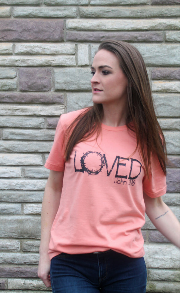 LOVED Tee-John 3:16 - Lotus Ave. Boutique