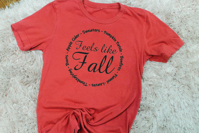 Feels Like Fall Tee - Lotus Ave. Boutique
