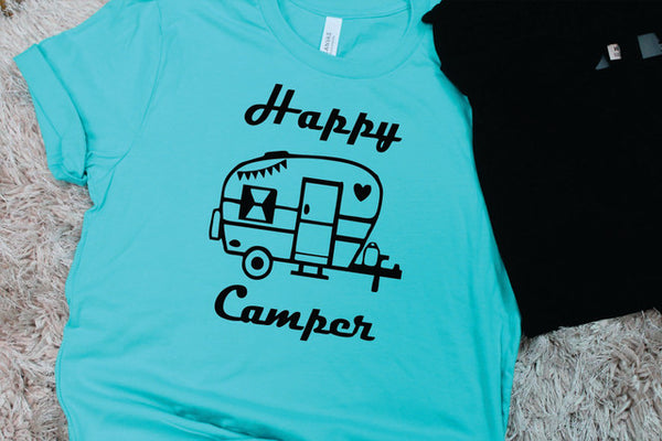 Happy Camper Tee - Lotus Ave. Boutique
