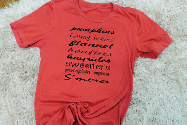 All Things Fall Tee - Lotus Ave. Boutique