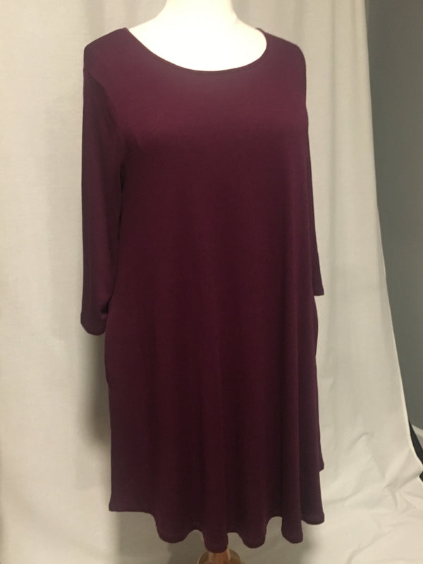 Plum Sweater Dress-Curvy - Lotus Ave. Boutique