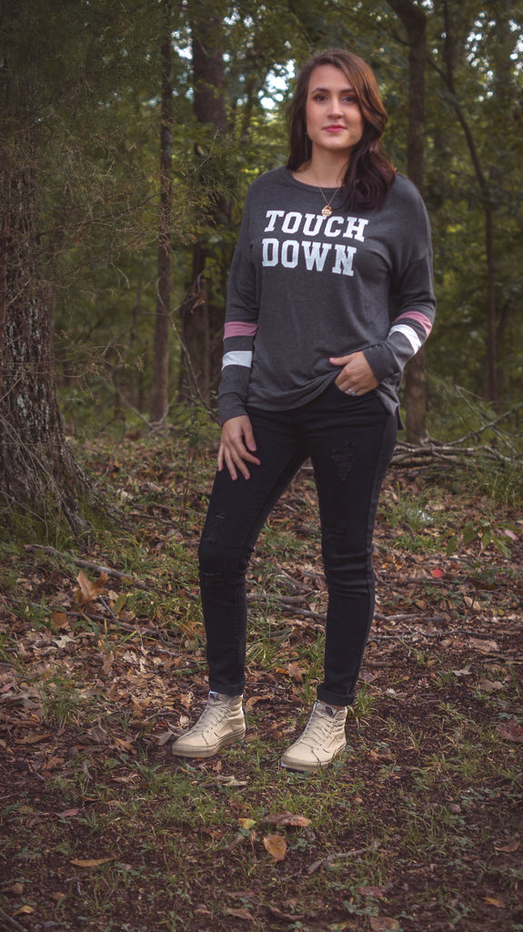 Touchdown Sweater - Lotus Ave. Boutique