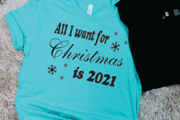 All I Want For Christmas Tee - Lotus Ave. Boutique