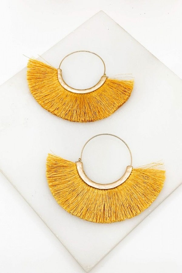 Walkin On Sunshine Earrings - Lotus Ave. Boutique
