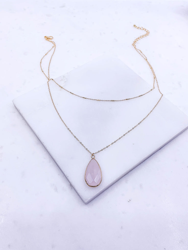 Teardrop Necklace - Lotus Ave. Boutique