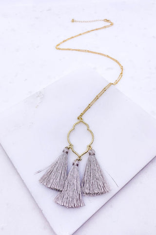 Fringe With Benefits Tassel Necklace - Lotus Ave. Boutique