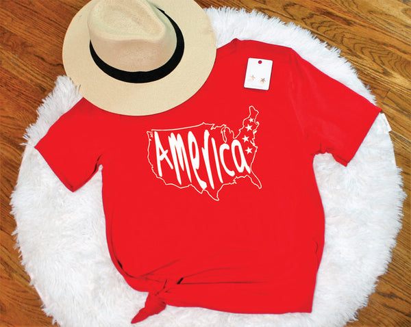 America Tee - Lotus Ave. Boutique