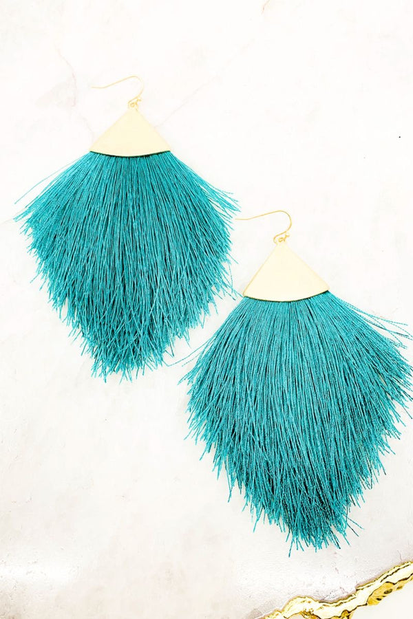 Sway With Me Earrings Turquoise - Lotus Ave. Boutique