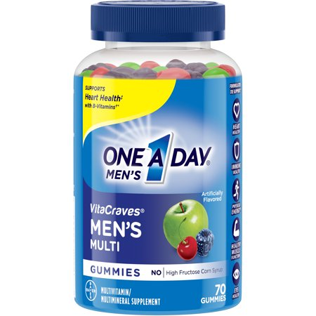 One A Day Men's VitaCraves Multivitamin Gummies, Supplement with Vitamins A, C, E, B6, B12, and Vitamin D, 150 ct.