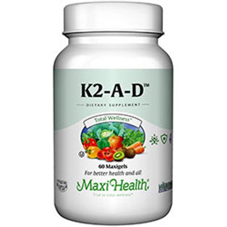 Maxi Health Kosher Vitamin K2 with A & D - 120 Softgels