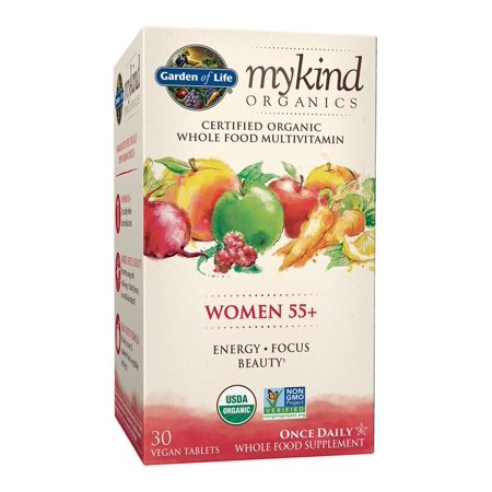 Garden of Life Mykind Organics Women 55+ One A Day Multivitamin Tablets, 30 Ct
