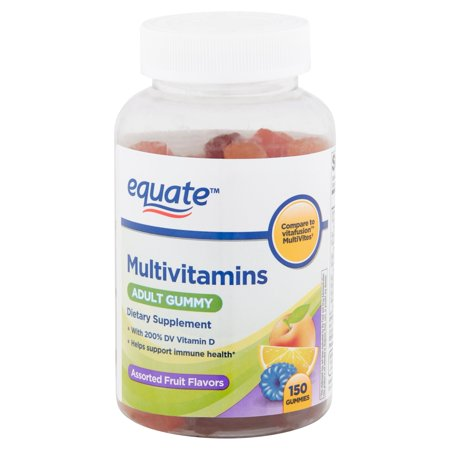 Equate Multivitamins Assorted Fruit Flavors Adult Gummies, 150 count