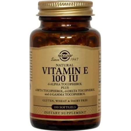 Solgar Vitamin E 100 IU Mixed Softgels, 100 Ct