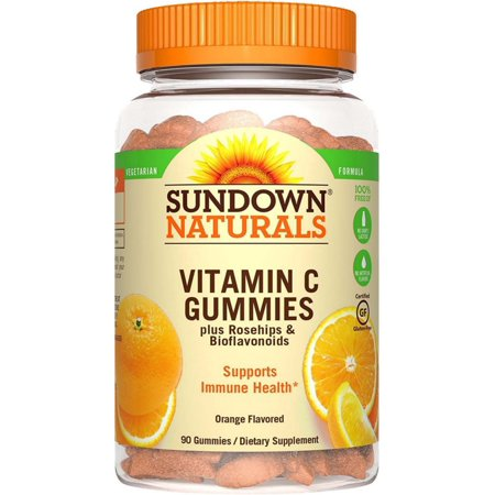 Sundown Naturals Vitamin C Dietary Supplement Gluten-Free Gummies, 90 count
