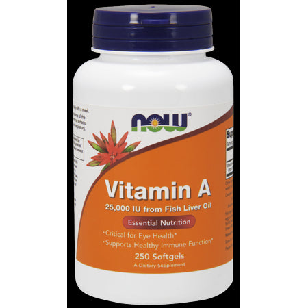 NOW Vitamin A 25000 IU Softgels,250 Ct