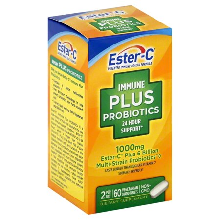 Ester-C Immune Plus Probiotics 24 Hour Support, 1000 Mg, 60 Ct