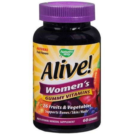 Nature's Way Alive! Women's Gummy Vitamins, Multivitamin Supplements, 60 Count