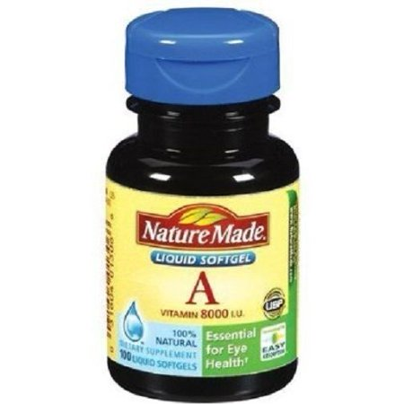 Nature Made Vitamin A 8000 IU Softgels, 100 Ct