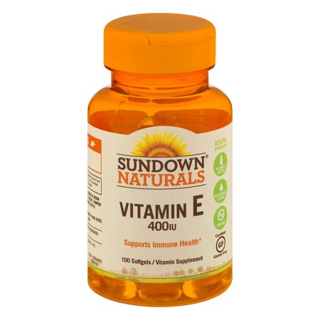 Sundown Naturals Vitamin E 400IU Softgels - 100 CT