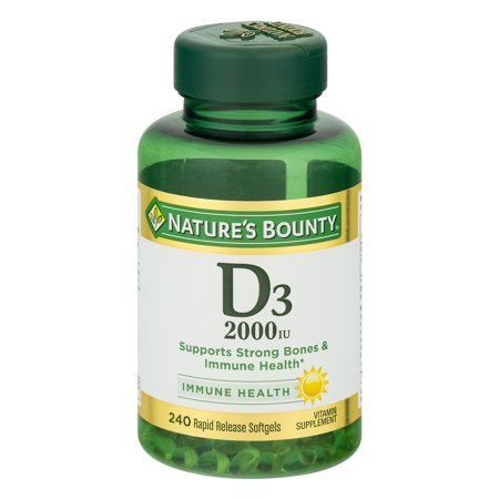 Nature's Bounty D3, 2000 IU Rapid Release Softgels, 240 Ct