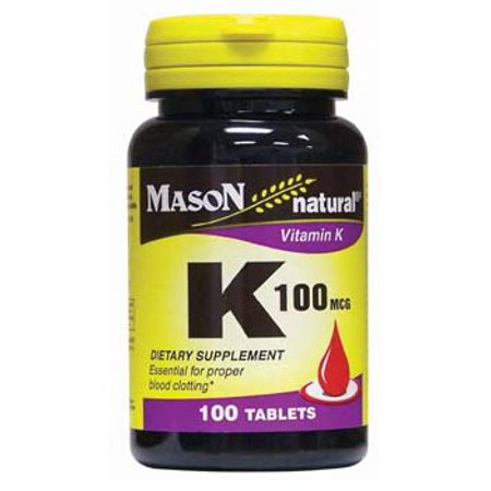 Mason Natural Vitamin K, 100mcg Tablets, 100 Ct