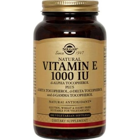 Solgar Vitamin E 1000 IU - 100 Vegetarian Softgels