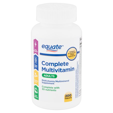 Equate Complete Multivitamin Tablets, Adults, 200 count