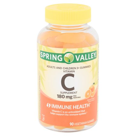 Spring Valley Vitamin C Supplement Vegetarian Gummies, 180 mg, 90 count