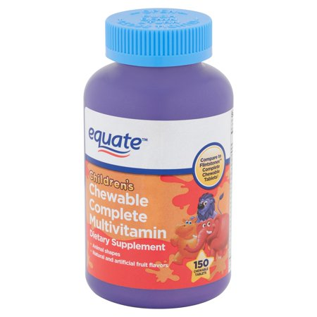 Equate Children's Chewable Complete Multivitamin Tablets, 150 count