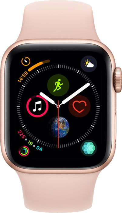 the best attitude fa035 6be23 44mm Apple Watch Gold Aluminium | Pink Sand Sport Band - Series 4