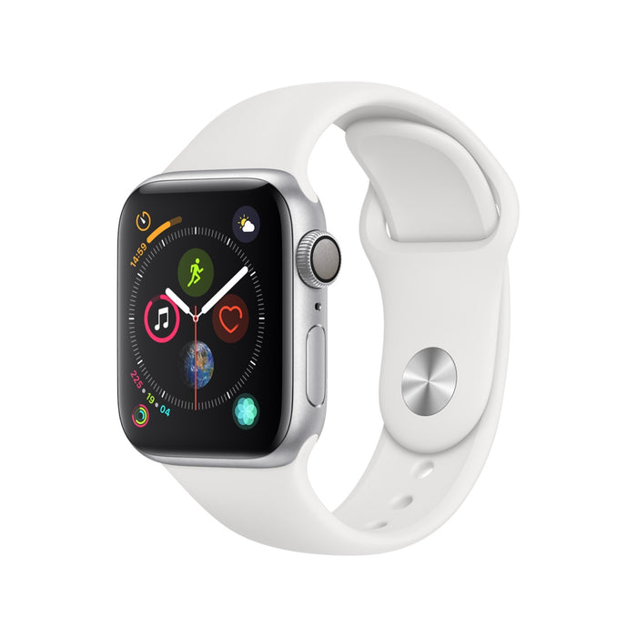 44mm Apple Watch Silver Aluminium | White Sport Band - Series 4